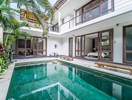 Joy, 3 Bedroom Villa, A/C living area, private gated compound, near Seminyak