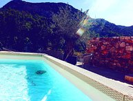 Sea view Stone villa with pool for rent Pitve island Hvar