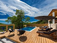Sea view villa with pool for rent island Mljet