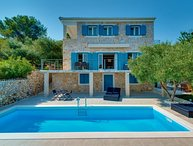 Sea view Stone Villa with pool for rent Sibenik area