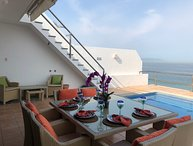 Spectacular Beachfront Home Located Centrally on Playa Camarones.