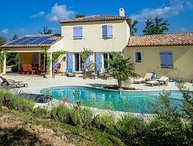 Air-conditioned villa in Lorgues, Var, heated pool and intimate garden