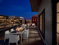 Brand new 1150 square foot penthouse suites feature custom-designed contemporary