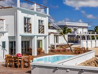 MARY'S BEACH VILLA... new beachfront villa on Burgeoux Bay, walk to Maho!