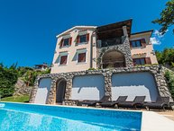 Breathtaking sea view villa for rent Opatija