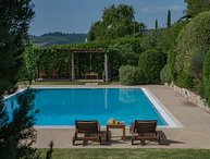 3 bedrooms villa in the Chianti area with view, pool, sauna and A/C, Villa Luna