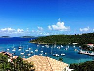 Discounted 25% for the holidays!! Walk to Cruz Bay with stunning water views!