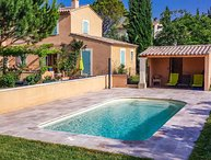 heated villa in Carpentras, swimming pool, pets welcome