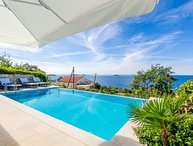 Sea view villa with infinity pool Mlini Dubrovnik
