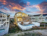 Pebble Beach | Oceanfront | Dog Friendly, Private Pool, Hot Tub | Nags Head