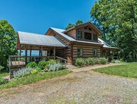 Skyline View Cabin | Traditional Log Cabin with Covered Deck & Sweeping Views