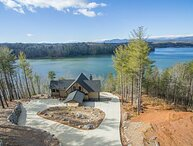 Lake James Lookout | Lakefront Views, Fire pit, Hot Tub, and Private Dock!