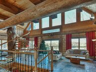 Stunning Log Home with Lake Access, Private Hot Tub, Pool Table